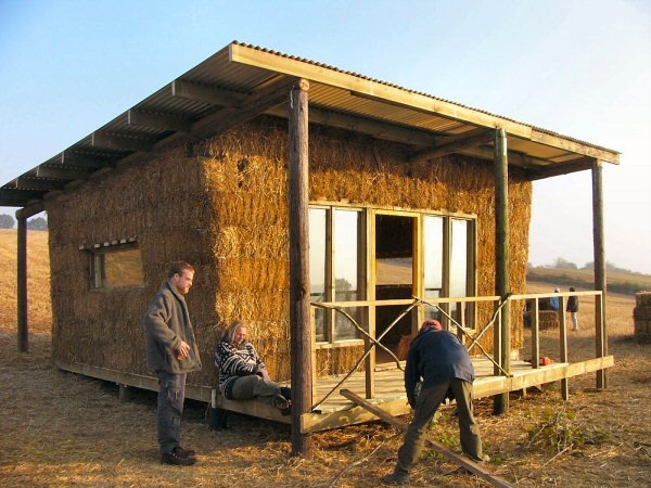 Strawbale building